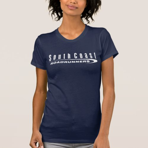 SCRR Womens Dark Short Sleeve Shirt White Logo