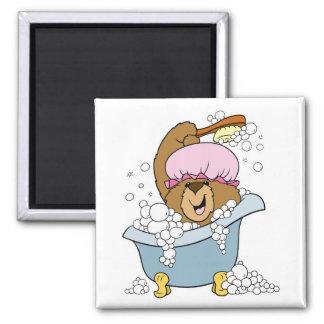 Scrub a Dub Bath Time Bear Fridge Magnet