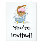 "Scrub a Dub Bath Time Bear 4.25"" X 5.5"" Invitation Card"