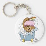 Scrub a Dub Bath Time Bear Key Chain