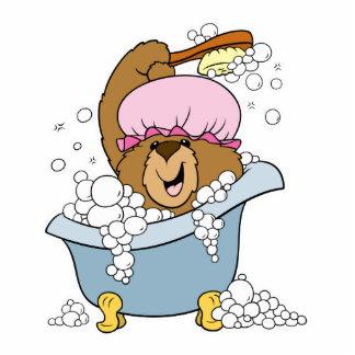 Scrub a Dub Bath Time Bear Photo Cut Outs