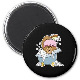 Scrub a Dub Bath Time Bear Refrigerator Magnet