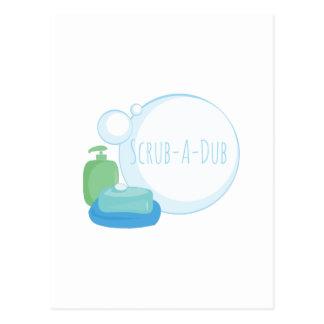 Scrub-A-Dub Postcard