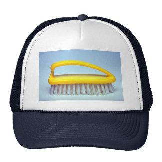 Scrub brush for heavy cleaning mesh hat
