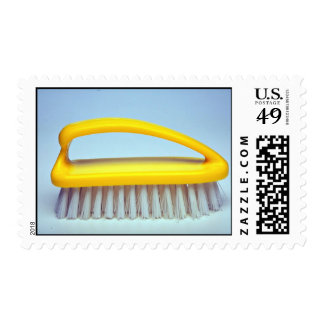 Scrub brush for heavy cleaning stamps