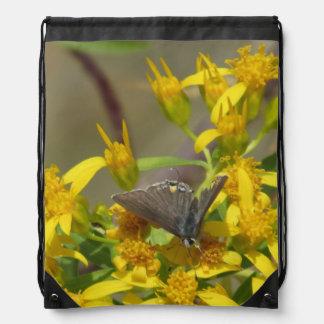 Scrub Hairstreak Butterfly Drawstring Bag