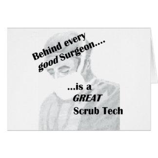 Scrub Tech Card