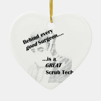 Scrub Tech Ceramic Ornament