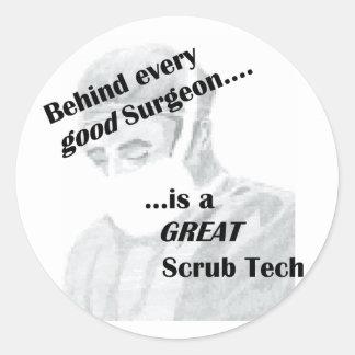 Scrub Tech Classic Round Sticker