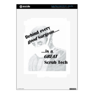 Scrub Tech Decals For iPad 3