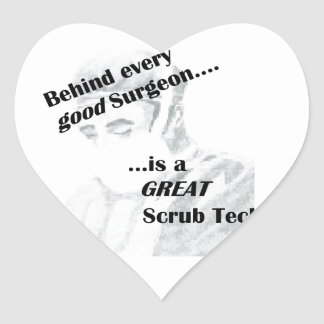 Scrub Tech Heart Sticker