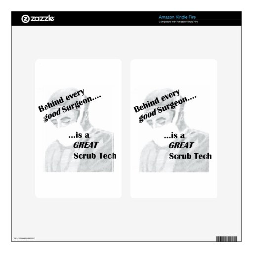Scrub Tech Kindle Fire Decals