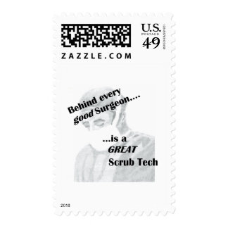 Scrub Tech Postage Stamps