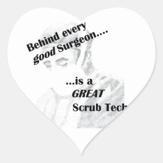 Scrub Tech Heart Sticker