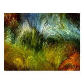 Scrub vegetation postcard