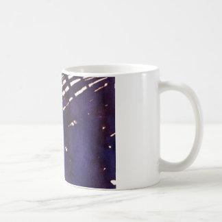 scruffily cross hatched coffee mug