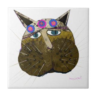 Scruffy Cat Tile