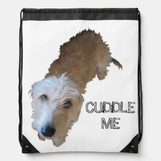 """Scruffy Dog """"CUDDLE ME"""" Backpack"""