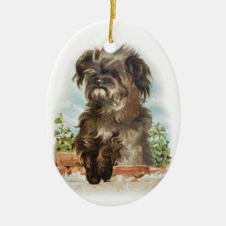 Scruffy dog ornament