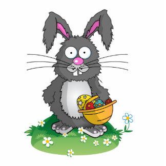 Scruffy Easter Bunny Photo Cutouts