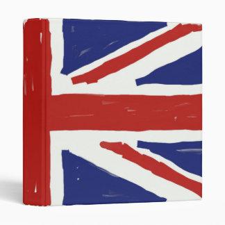 Scruffy Union Jack 3 Ring Binders