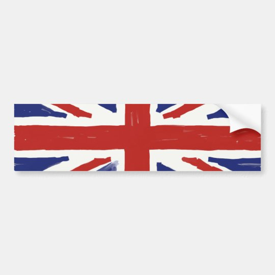 Scruffy Union Jack Bumper Sticker