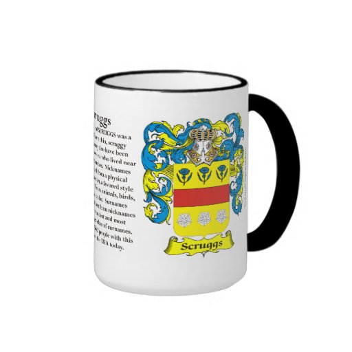 Scruggs Family Coat of Arms Ringer Coffee Mug