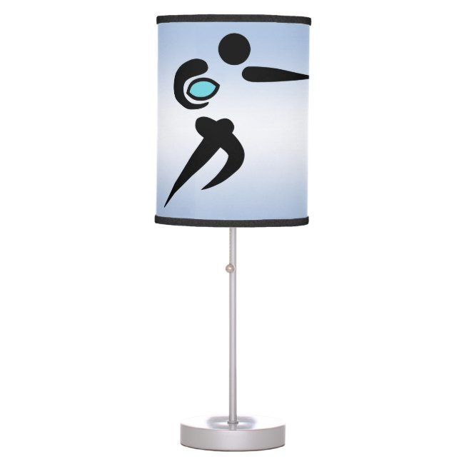 Scrum Ball Blue Rugby Player Lamp