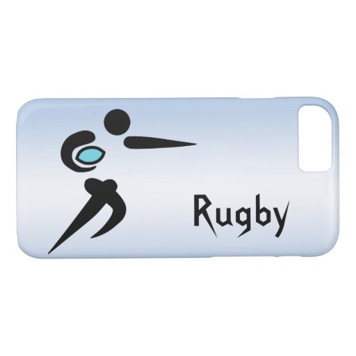 Scrum Ball Rugby Player Blue iPhone 8/7 Case