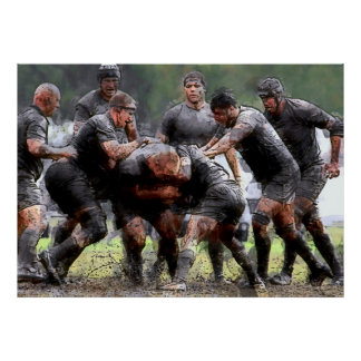 SCRUMMAGE RUGBY POSTER