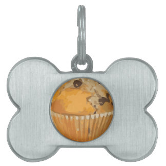 Scrumptious Blueberry Muffin Delicious Dessert Pet Name Tags