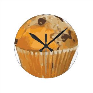 Scrumptious Blueberry Muffin Delicious Dessert Round Clock