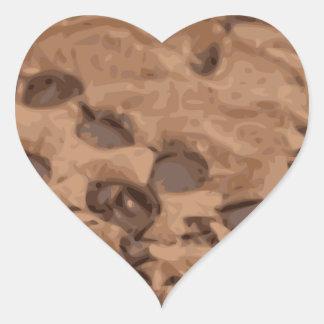 Scrumptious Brownie Sweet Dessert Heart Sticker