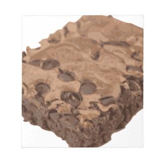 Scrumptious Brownie Sweet Dessert Notepad