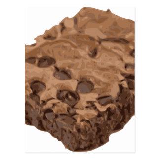 Scrumptious Brownie Sweet Dessert Postcard