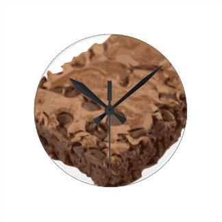 Scrumptious Brownie Sweet Dessert Round Clock
