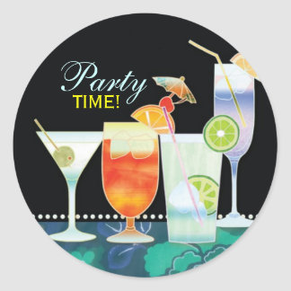 Scrumptious Cocktails Party Invitation Stickers