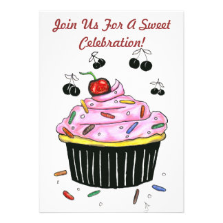Scrumptious Cupcake invitation
