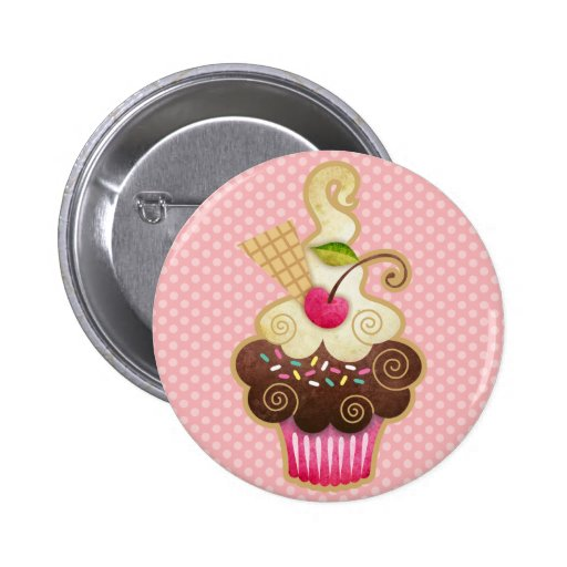 Scrumptious Cupcake Pinback Button
