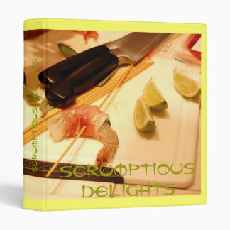 scrumptious delights recipe binder