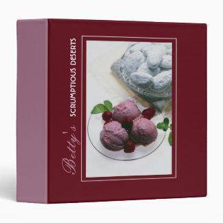 Scrumptious desserts 3 ring binder