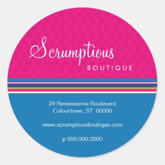 Scrumptious Magenta and Blue Address Sticker
