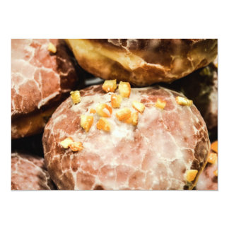 "Scrumptious Nutty Glazed Donuts 5.5"" X 7.5"" Invitation Card"