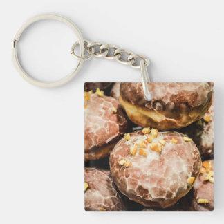 Scrumptious Nutty Glazed Donuts Keychain