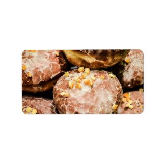 Scrumptious Nutty Glazed Donuts Custom Address Label