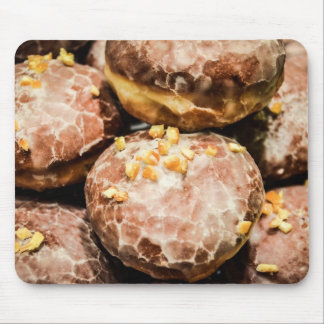 Scrumptious Nutty Glazed Donuts Mouse Pad