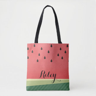 Scrumptious Watermelon | Custom Name Tote Bag