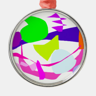 Scrupulous Mind Blocked in the Face of Games Round Metal Christmas Ornament