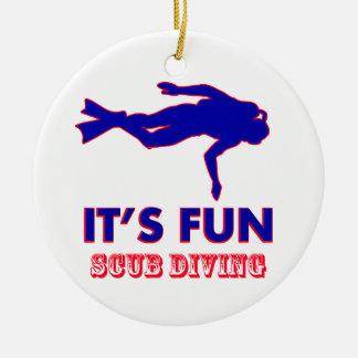 scub diving Designs Ceramic Ornament