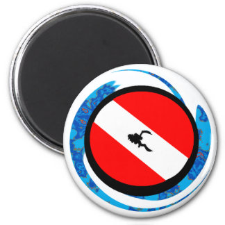 SCUBA ALL ELEMENTS 2 INCH ROUND MAGNET
